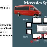 Стеклопакеты на Sprinter Classic 600$